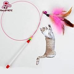 고양이 장난감 반려동물 장난감 티저 깃털 장난감 벨 핑크 직물