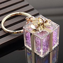 Crystal pudełko kształt key chain ring torba dekorator organizator posiadacza dla miłośników prezentu ślubnego