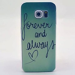 Letter Pattern PC Material Phone Case for Galaxy S6 / Galaxy S6 edge / Galaxy S3 / Galaxy S5Mini