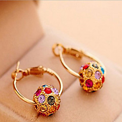 Earring Hoop Earrings Jewelry Women Alloy / Cubic Zirconia / Gold Plated 2pcs Gold