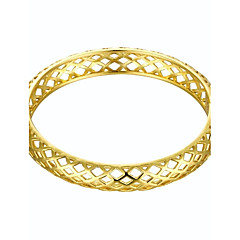 Simplicity Delicate Parallelogram Style 5.6*5cm Women's Multicolor Gold-Plated Brass Bangles(Golden&Rose Gold)(1 Pc)