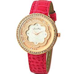 Dames Dress horloge Kwarts PU Band Glitter / Bloem / Bedeltjes Zwart / Wit / Blauw / Rood / Paars Merk-