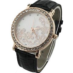 Women's Round Alloy Diamond  Dial PU Band Quartz Fashional Dress Wrist Luxury  Watch
