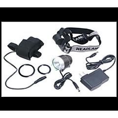 Luci bici LED 4.0 Modo 5000 Lumens Impermeabili / Ricaricabile / Emergenza Cree XM-L T6 18650 Ciclismo / Viaggi Nero Lega di alluminio