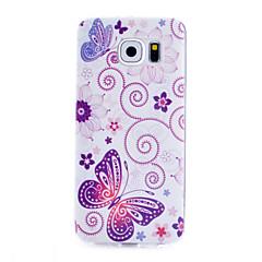 Teste padrão de borboleta caixa transparente de material TPU telefone fino para Samsung Galaxy S6 / S5 / S4 / S3 / s4mini / s5mini