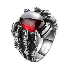 Heren Ring Zirkonia PERSGepersonaliseerd Kostuum juwelen Roestvast staal Zirkonia Kubieke Zirkonia Titanium Staal Sieraden Voor Halloween