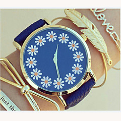Women's Lovely Floral Watch,Floral Pattern,Women's Watch,Analog,Students Flower Watch Wristwatch Cool Watches Unique Watches Fashion Watch