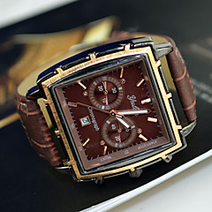 Men's Watch Dress Watch Calendar Rectangle Dial