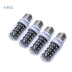5W E14 E26/E27 LED-kolbepærer T 56 SMD 4014 500 lm Varm hvid Kold hvid Dekorativ Vekselstrøm 220-240 Vekselstrøm 110-130 V 4 stk.