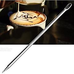 stal kawy igła kij szydełka rzeźbione rzeźbione malowane kwiaty fantazyjne igły do kawy (1 szt)
