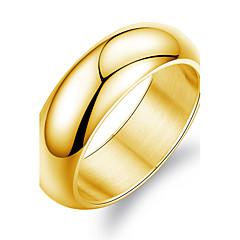 Stainless Steel Plating 24 K Gold Men's Ring