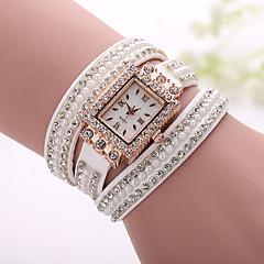 Xu™ Women's Korea Velvet Diamonds Rivet Winding Bracelet Quartz Watch Cool Watches Unique Watches Fashion Watch Strap Watch