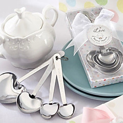 Set Of 4 Sweet Love Heart Shaped Measuring Spoons Wedding Favors