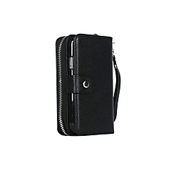 DE JI PU Leather Zipper Handbag Wallet Purse with Card Slot Phone Case Cover for Samsung S5/S4