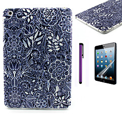 svart blommönster TPU mjuk baksida täcker fallet för iPad mini 3 / iPad mini 2 / iPad mini