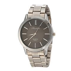 menn casual design sølvfarget stål band kvarts håndleddet watch