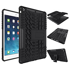 For Stødsikker / Med stativ Etui Bagcover Etui Helfarve Hårdt Silikone for Apple iPad Air 2 / iPad Air