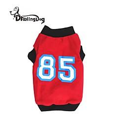 Rojo/Negro - Cosplay - Terylene - Camiseta - Perros/Gatos -