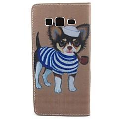 For Samsung Galaxy etui Pung Kortholder Med stativ Flip Etui Heldækkende Etui Hund Kunstlæder for SamsungCore Prime Core Plus Core LTE