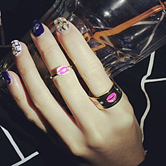 Personality Lips Alloy Midi Rings Wedding/Party/Daily/Casual 1set
