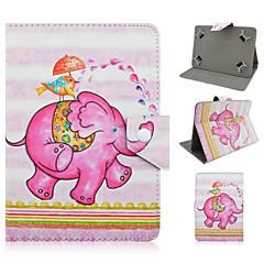 elefante universales pintado pu funda de soporte para 7 pulgadas y 10 pulgadas
