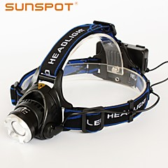 SUNSPOT HL640 3 Mode 800 Lumens Cap Lights Focus / Rechargeable / High Power LED Camping/Hiking