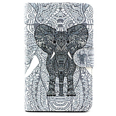 For Samsung Galaxy Case Card Holder / with Stand / Flip / Pattern Case Full Body Case Elephant PU Leather SamsungTab 4 10.1 / Tab 4 7.0 /