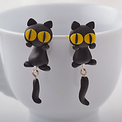 HUALUO®Creative Handmade lay animal cat earrings