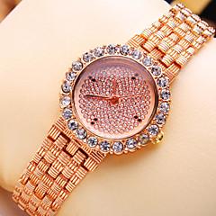 Women's New Luxury Trend Round Diamond Dial Fashion Quartz Bracelet Watch (Assorted Colors)