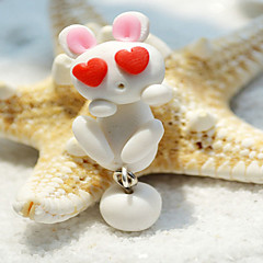 HUALUO®Creative Handmade Clay Animal Rabbits Earrings