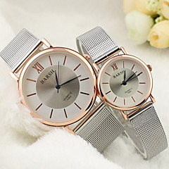 Couple's Round Dial Alloy Band Lovers' Quartz Analog Wrist Watch Cool Watches Unique Watches Fashion Watch