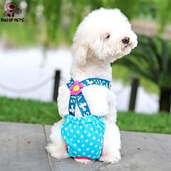 Γάτες / Σκυλιά Παντελόνια Πολύχρωμο Ρούχα για σκύλους Καλοκαίρι / Άνοιξη/Χειμώνας Πουά Καθημερινά / Μοντέρνα
