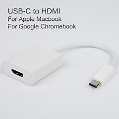 USB3.1 USB-C to HDMI Adapter cable for Apple The New Macbook Vedio output