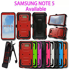 Dual Layer Anti-knock Heavy Duty Hybrid Rugged Rubber Silicon Slim Armor Case For Galaxy Note 5(Assorted Color)