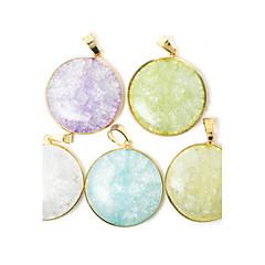 beadia nueva 36mm Colgantes de moda de joyería colgantes de cristal redondo 1pc para el collar 5 colores U-Pick