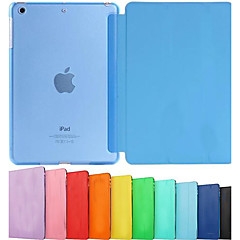 DSB® Ultra Slim Tri-Fold PU Leather with Crystal Hard Back Smart Stand Case Cover for iPad mini1/2