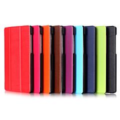 עור PU באיכות גבוהה דפוס קיפול משולש 7 אינץ 'לעמוד למקרה T1 Huawei (t1-701u) (צבעים שונים)