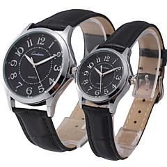 style d'affaires montre-bracelet bracelet cadran en or en cuir bande de quartz de quelques