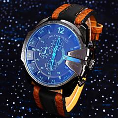 คนดูนาฬิกาข้อมือกันน้ำปฏิทินหนังแท้นาฬิกาดีเซล montre Reloj Relogio masculino คิดของขวัญ