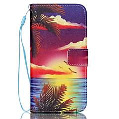 Seascape mønster pu læder telefon tilfældet for Galaxy S3 / S4 / S5 / S6 / s6 kant / galakse s6 kant plus / s3 mini / s4 mini / s5 mini