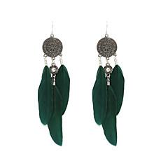 Fashion Women Vintage Feather Dangle Earrings