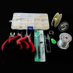 beadia 1set diy sieraden bevindingen kit tang&shear&ringetjes&wrie&elastische stretch koorden&pins