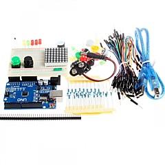 nouveau kit de démarrage uno r3 mini-maquette conduit bouton cavalier pour compatile Arduino