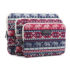 "olifant plaid prints laptop hoes sleeves shakeproof geval voor ipad Samsung macbook 12 ""ThinkPad oppervlak pk dell acer"