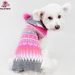 Perros / Gatos Abrigos / Suéteres / Saco y Capucha Rosa Invierno Corazones Cosplay / Navidad