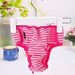 Cat Dog Pants Rose Dog Clothes Summer Spring/Fall Stripe Casual/Daily