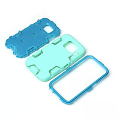 vedenpitävä PC + muovinen dual takakansi ohut kotelo Galaxy S6 reuna / S6 / S5 / S4 / S3 (valikoituja väri)