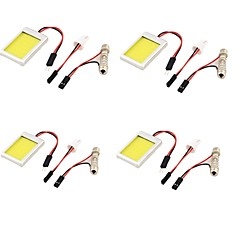 YouOKLight® 4PCS T10 Festoon 12W 1100lm  6000K  White Light LED Car Bulb Light (12V)