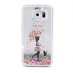 삼성 소녀 흐름 모래 PC 소재 휴대 전화 케이스 은하 S6 / S6 에지