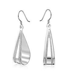 Oorknopjes Clip oorbellen Eenvoudige Stijl Sterling zilver Koper Verzilverd Drop Zilver Sieraden Voor Bruiloft Feest Dagelijks Causaal1